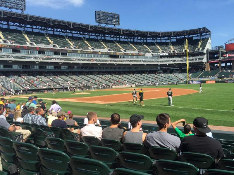 Seating view for Guaranteed Rate Field Section 118 Row 9 Seat 1