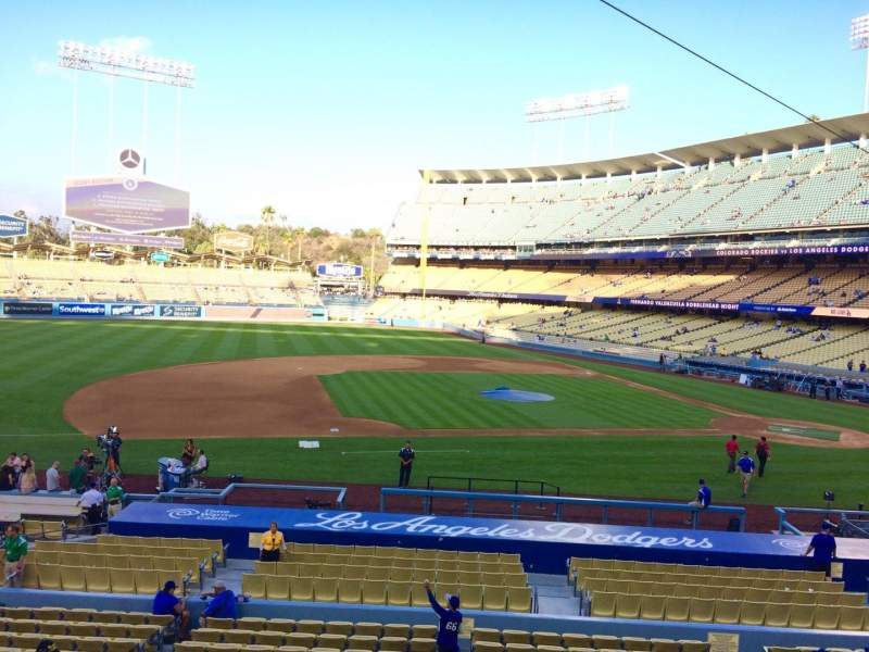 Seating view for Dodger Stadium Section 133LG Row A Seat 7