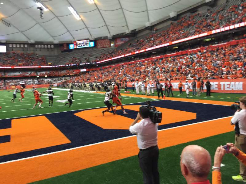 Seating view for Carrier Dome Section 123 Row A Seat 106