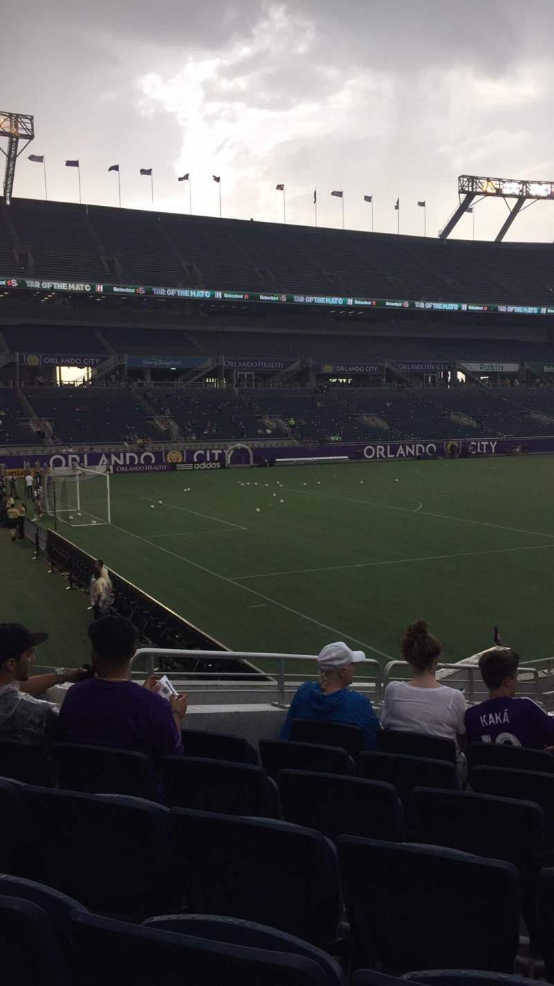 Seating view for Camping World Stadium Section 115 Row p Seat 17-18