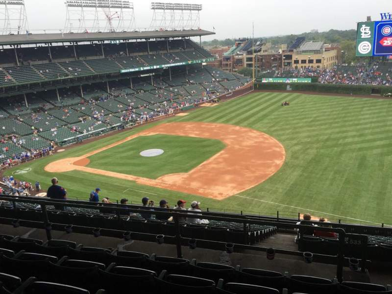 Wrigley Field, section 533, row 6, home of Chicago Cubs