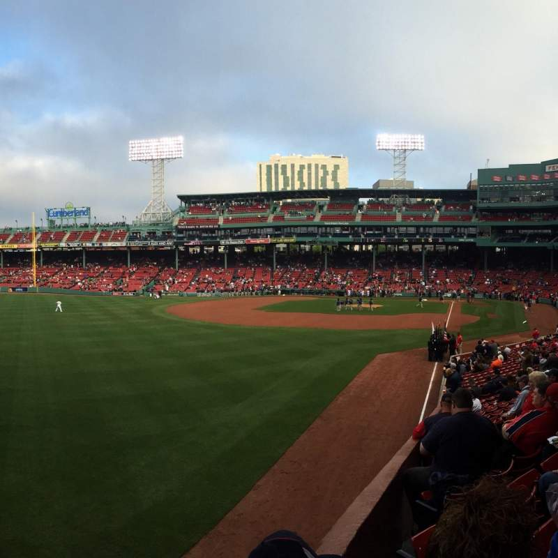Seating view for Fenway Park Section Bleacher 33 Row 1 Seat 8