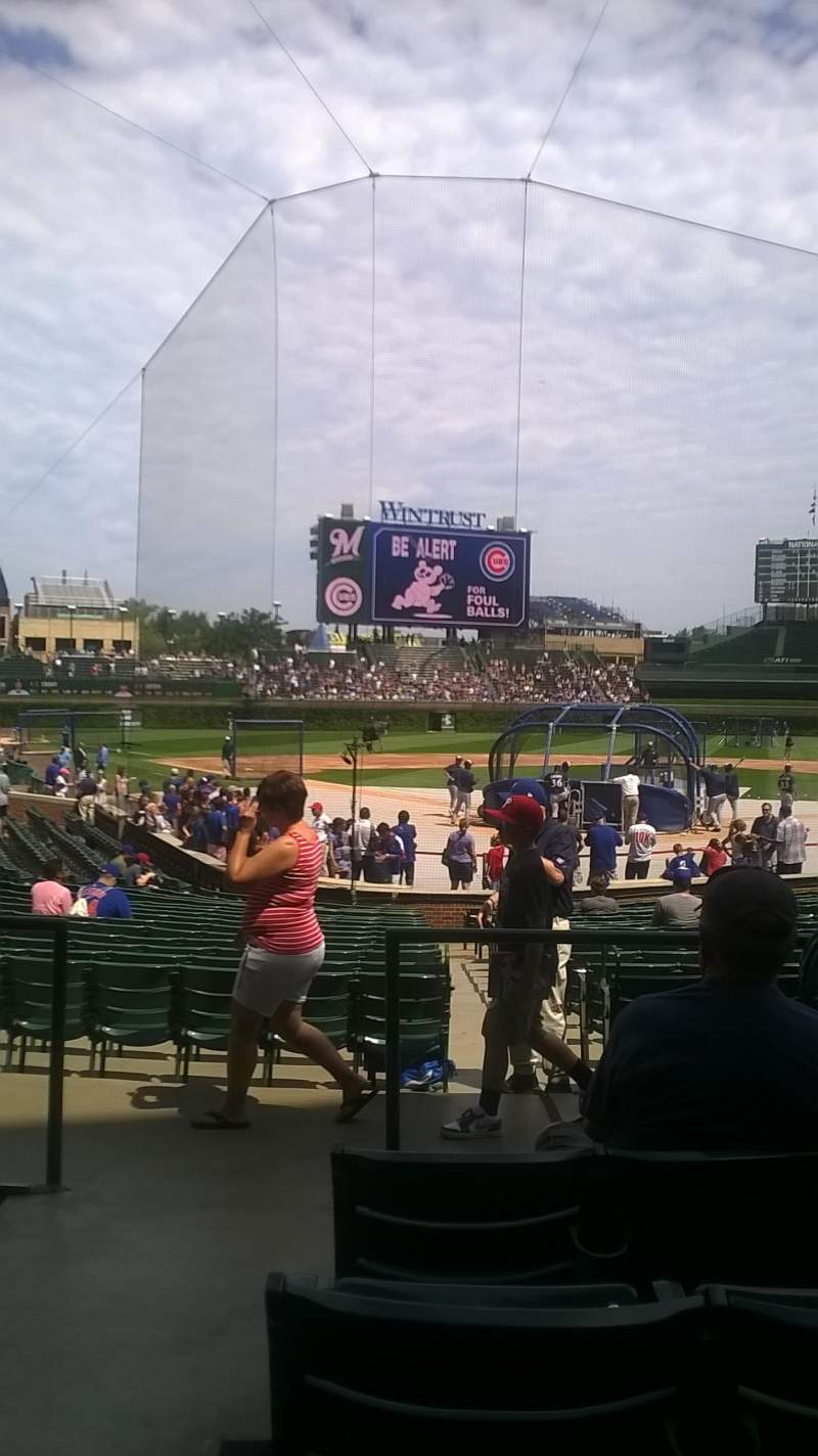 Seating view for Wrigley Field Section 122 Row 6 Seat 1