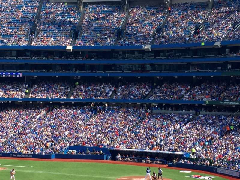 Seating view for Rogers Centre Section 235R Row 1 Seat 1
