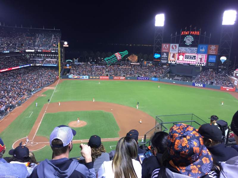 Seating view for AT&T Park Section 310 Row 5 Seat 6
