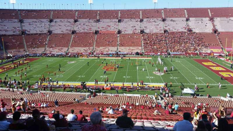 Seating view for Los Angeles Memorial Coliseum Section 6L Row 63 Seat 11