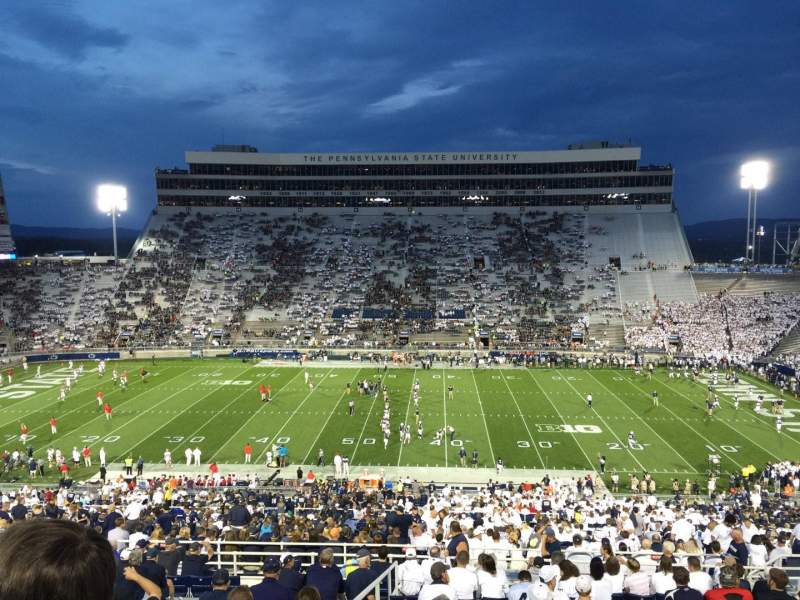 Seating view for Beaver Stadium Section WDU Row 60 Seat 30
