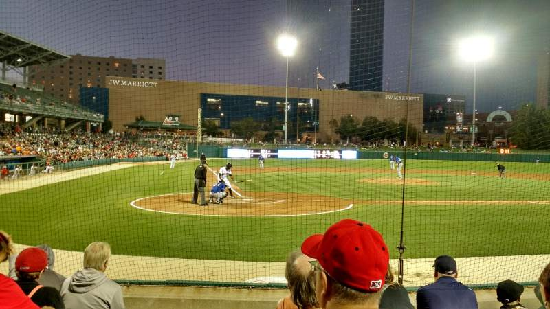 Seating view for Victory Field Section 114 Row H Seat 1