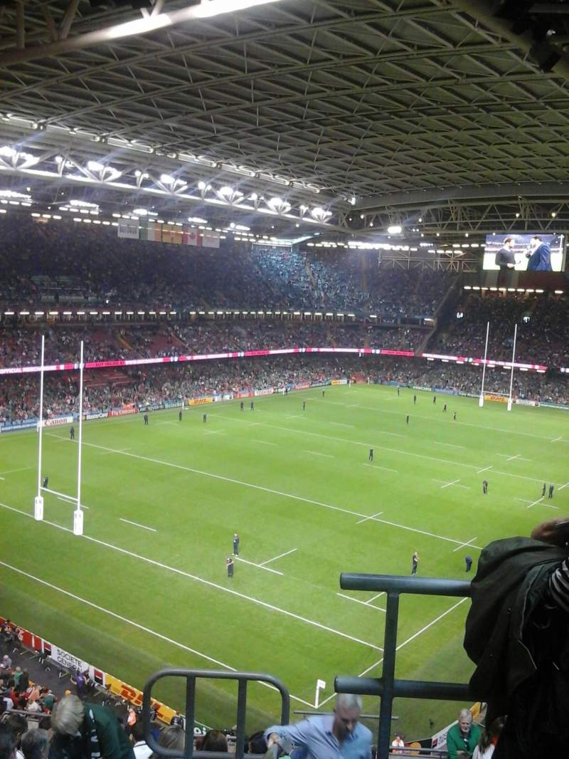 Seating view for Principality Stadium Section U16 Row 13 Seat 25