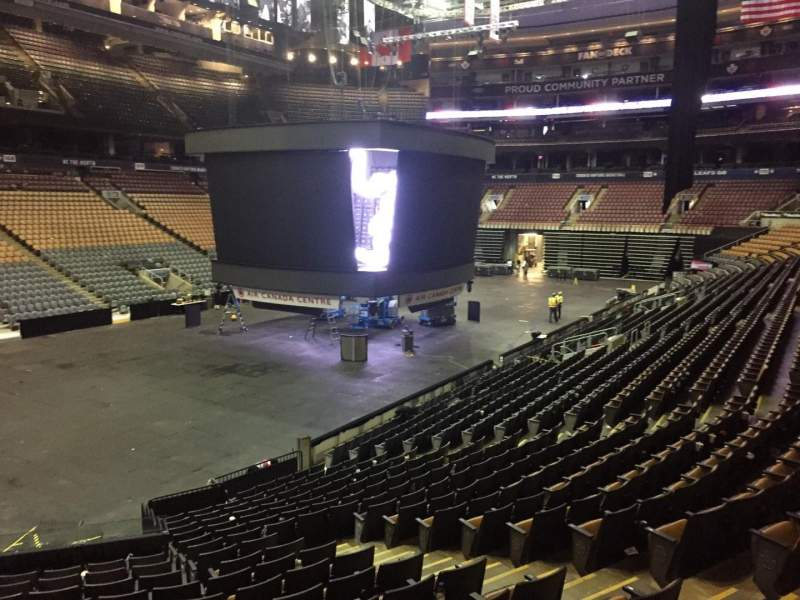 Seating view for Scotiabank Arena Section 122 Row 20 Seat 5