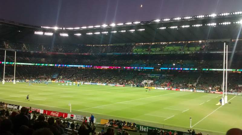 Seating view for Twickenham Stadium Section L21 Row 28 Seat 82