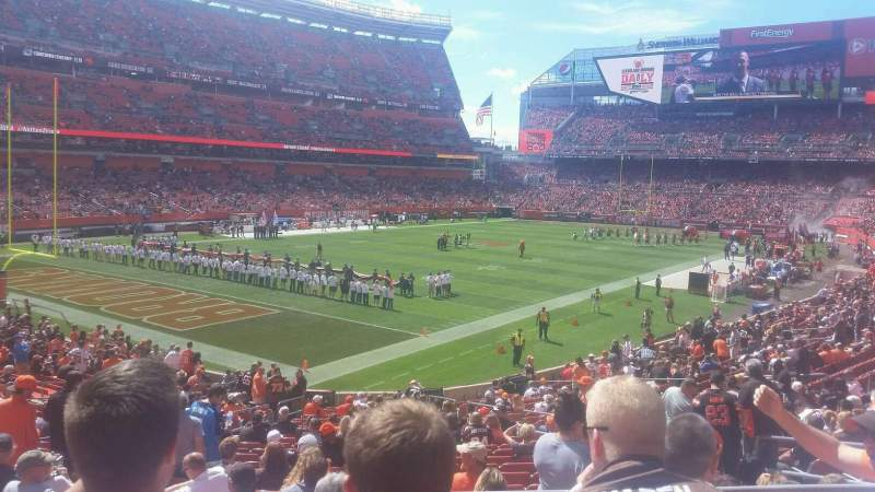 Seating view for FirstEnergy Stadium Section 125 Row 26 Seat 6