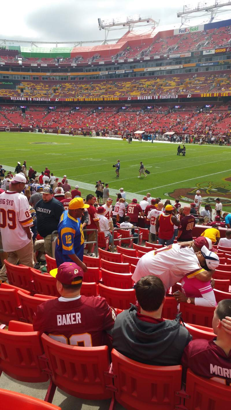 FedEx Field, section: 116, row: 16, seat: 7