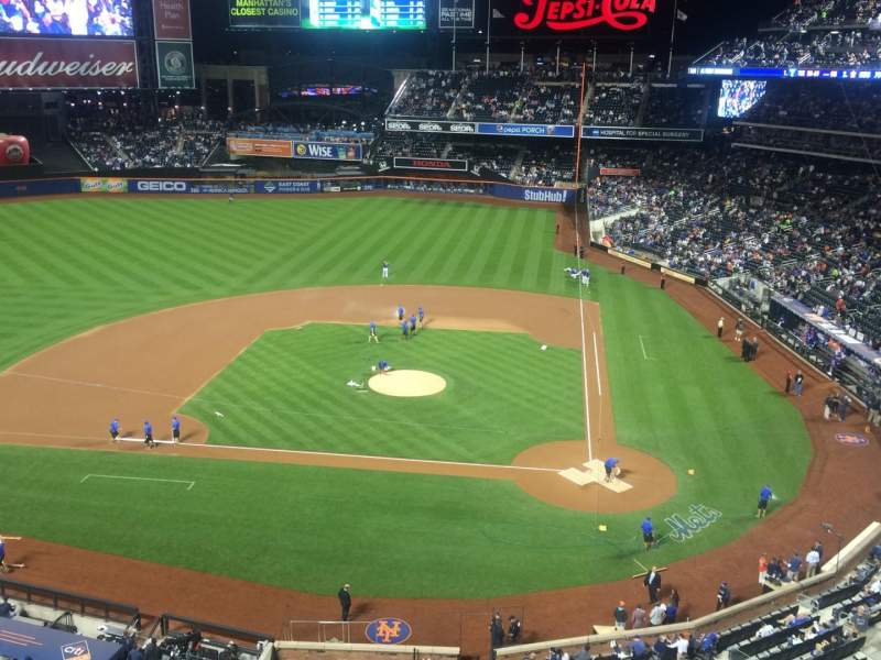 Seating view for Citi Field Section 119 Row 1 Seat 11