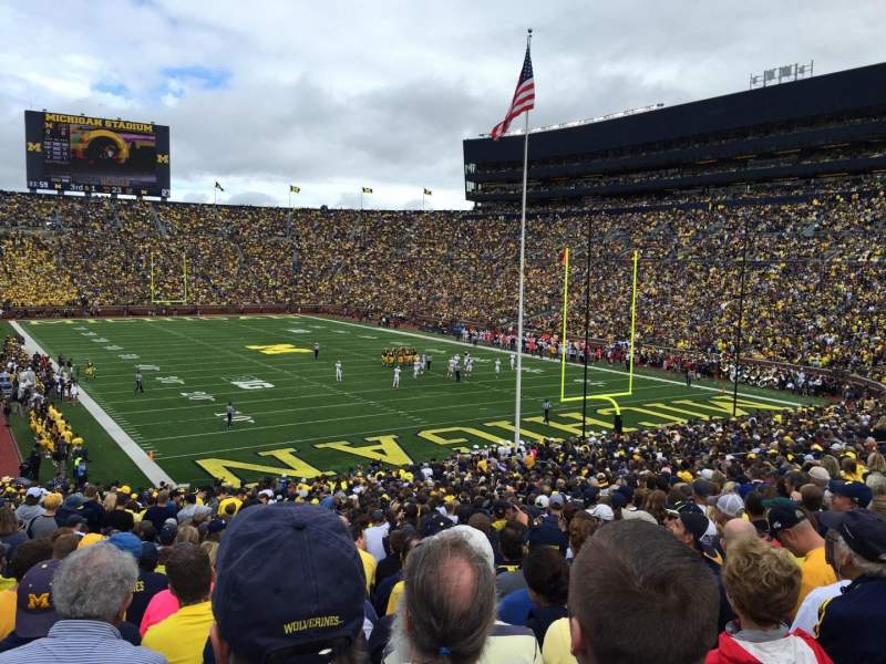 Seating view for Michigan Stadium Section 15 Row 47 Seat 18