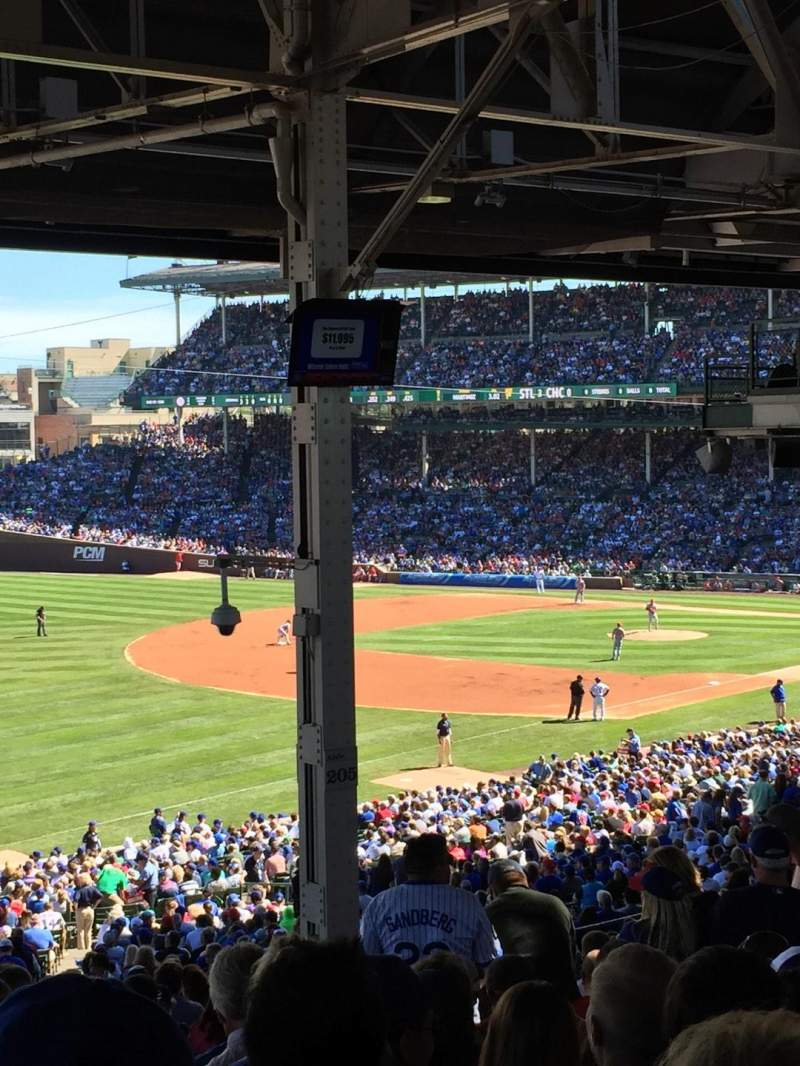Seating view for Wrigley Field Section 204 Row 25 Seat 14