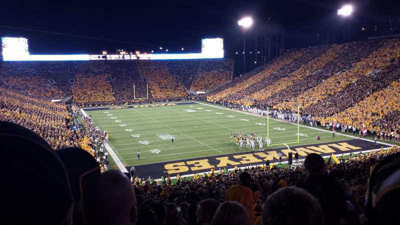 Seating view for Kinnick Stadium Section 219 Row 16 Seat 2