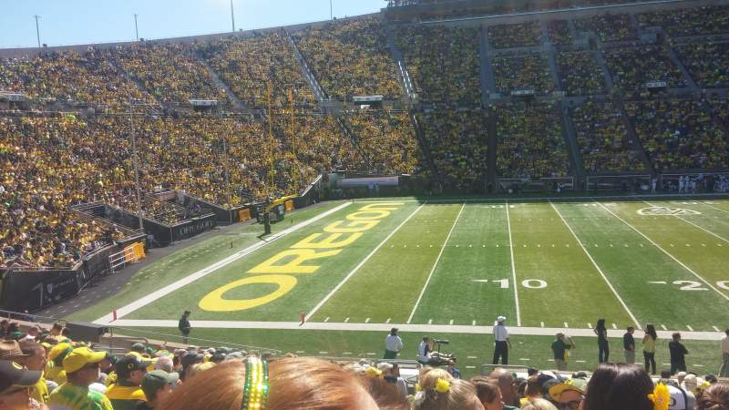 Seating view for Autzen Stadium Section 14 Row 24 Seat 19