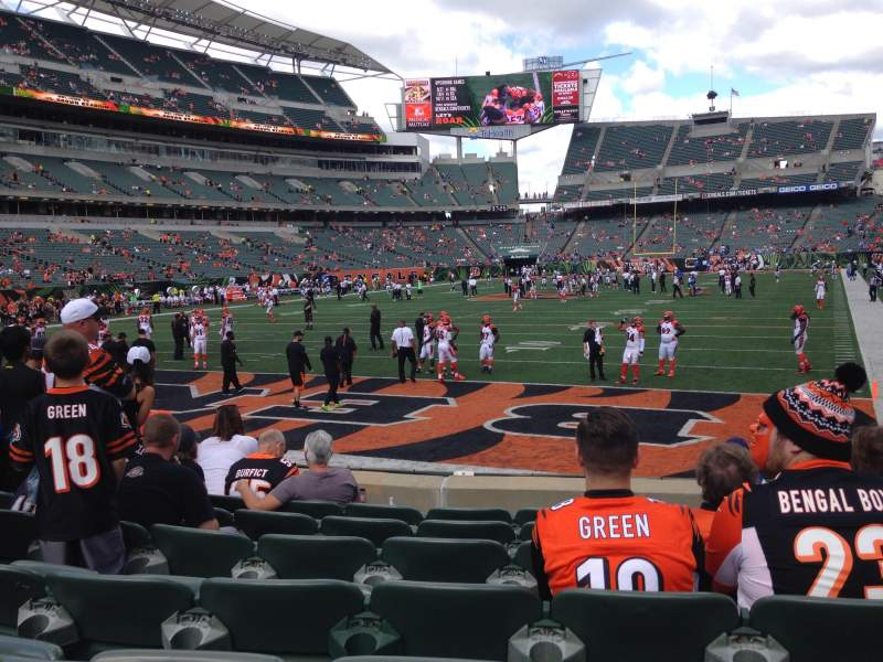 Seating view for Paul Brown Stadium Section 150 Row 7 Seat 16