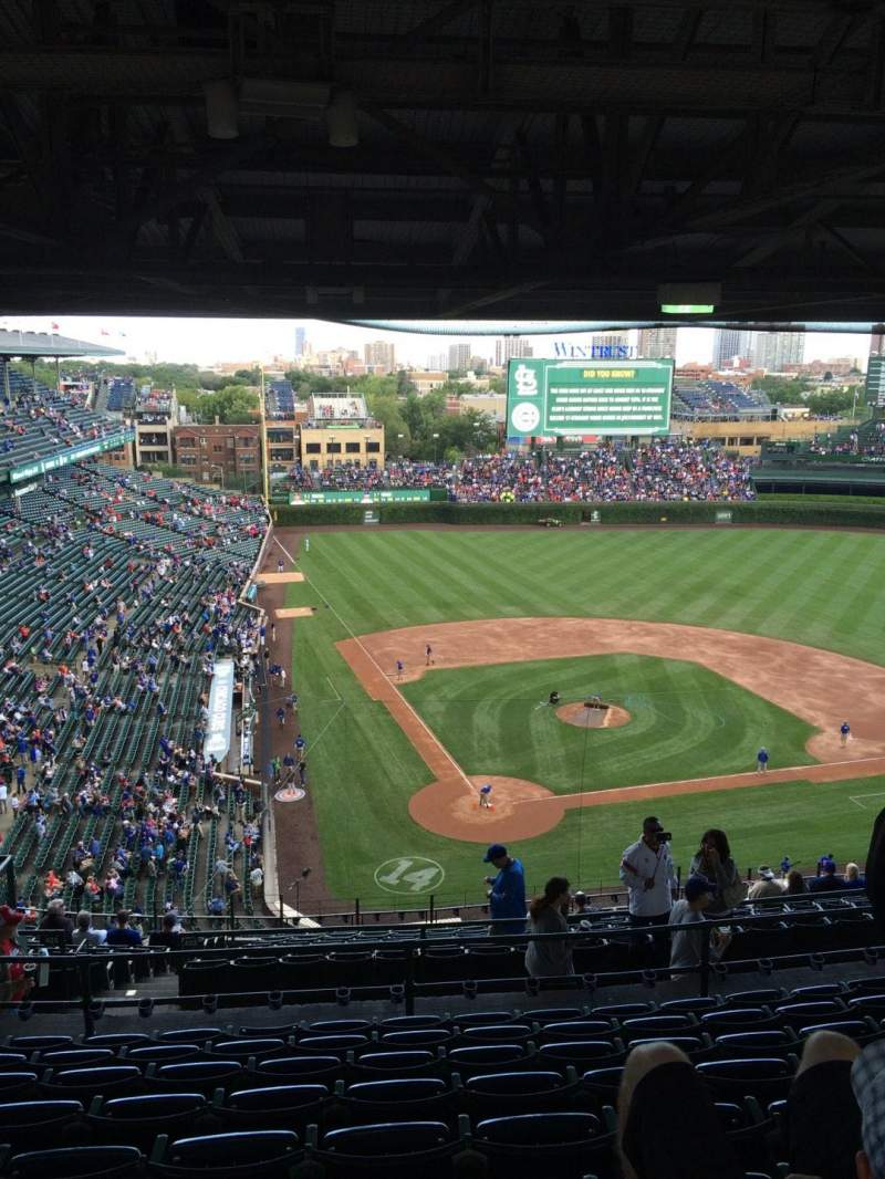 Seating view for Wrigley Field Section 523 Row 9 Seat 10