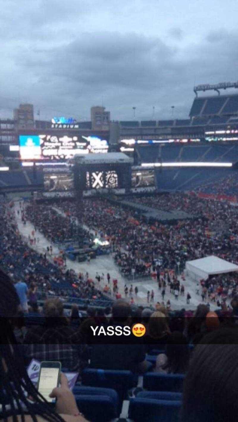 Seating view for Gillette Stadium Section 202 Row 20 Seat 6