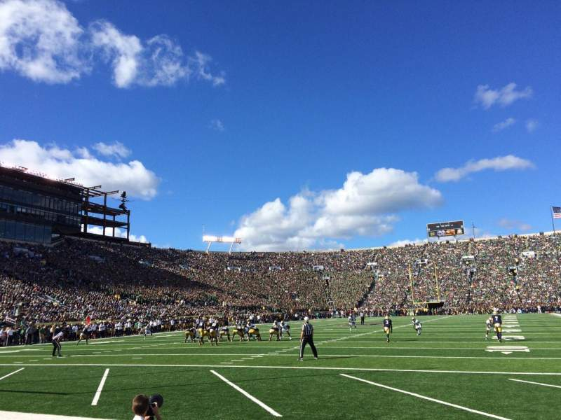 Seating view for Notre Dame Stadium Section FL17 Row E Seat 3