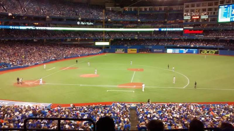 Seating view for Rogers Centre Section 218R Row 5 Seat 1