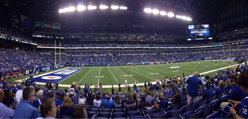 Seating view for Lucas Oil Stadium Section 143 Row 16 Seat 17