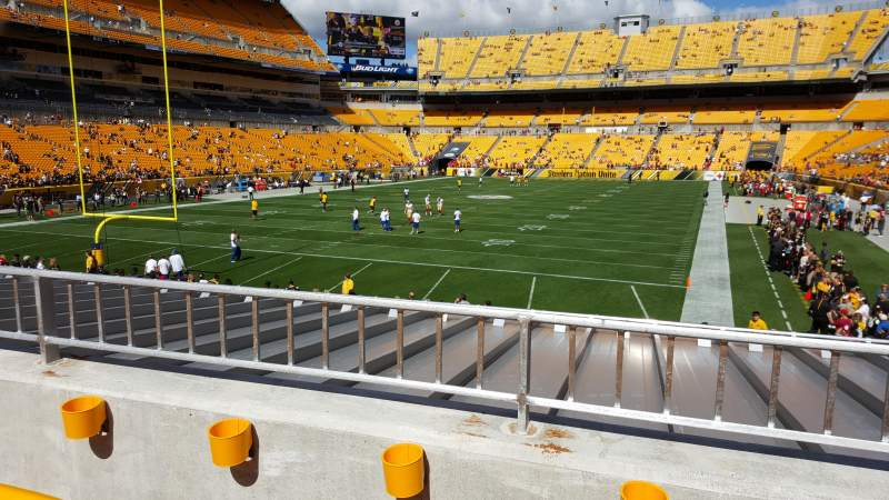 Seating view for Heinz Field Section 152 Row B Seat 9