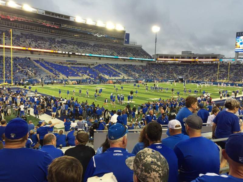 Seating view for Kroger Field Section 1 Row 23 Seat 12