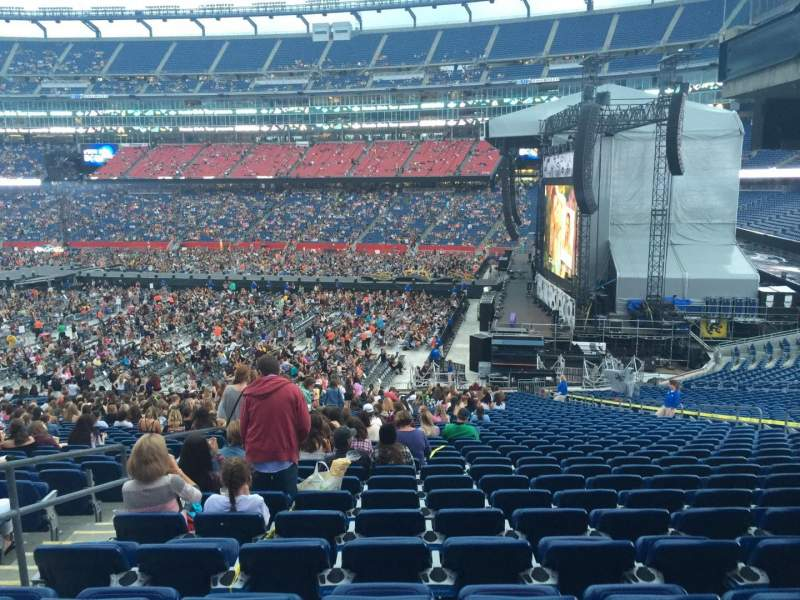 Seating view for Gillette Stadium Section 129 Row 36 Seat 6
