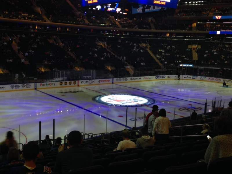 Seating view for Madison Square Garden Section 105 Row 18 Seat 8-9