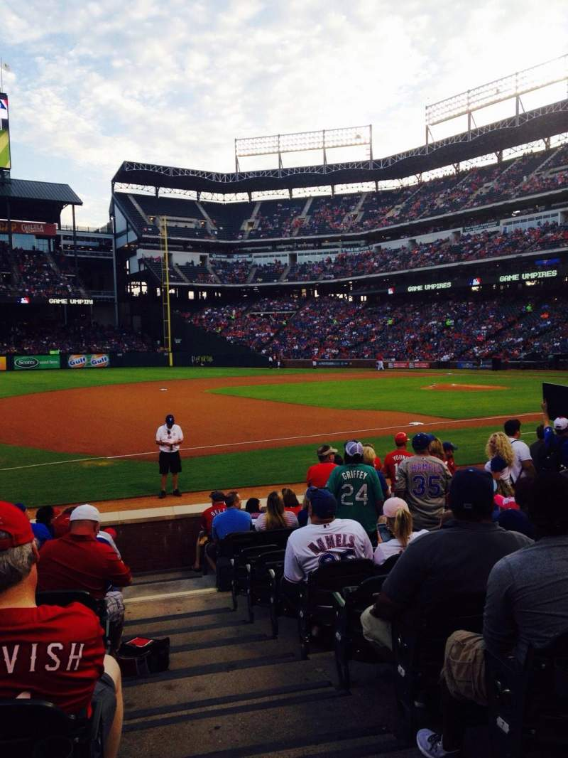 Seating view for Globe Life Park in Arlington Section 16 Row 8