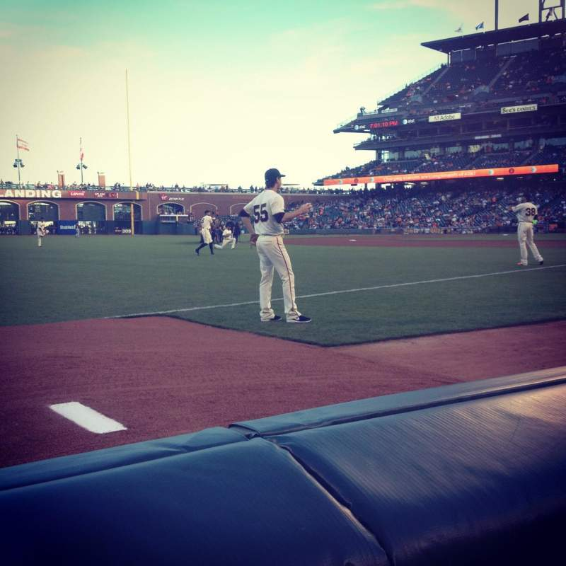 Seating view for AT&T Park Section 127 Row 1 Seat 9