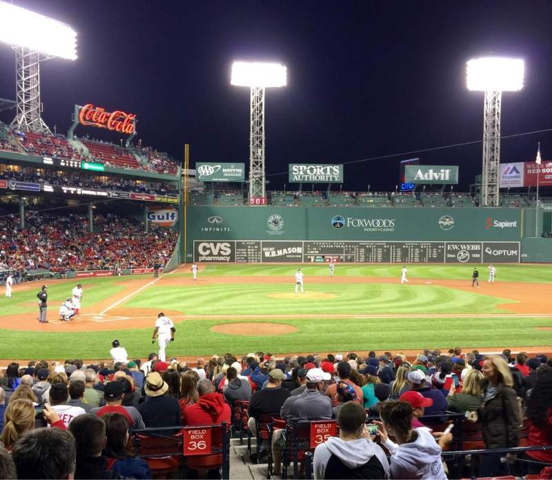 Seating view for Fenway Park Section Loge Box 121 Row FF Seat 1
