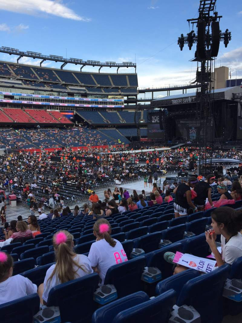 Seating view for Gillette Stadium Section 135 Row 20