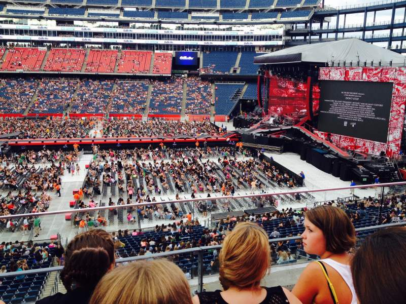 Seating view for Gillette Stadium Section CL29 Row 3