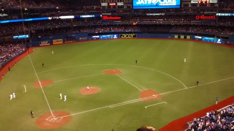 Seating view for Rogers Centre Section 522R Row 3 Seat 7