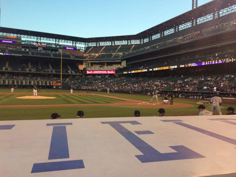 Seating view for Coors Field Section 137 Row 6 Seat 5