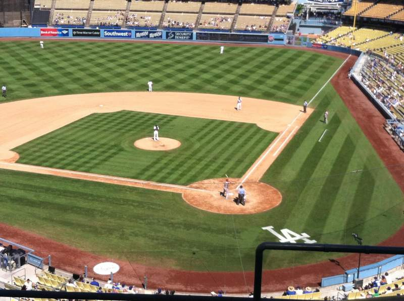 Seating view for Dodger Stadium Section 7RS Row E Seat 1