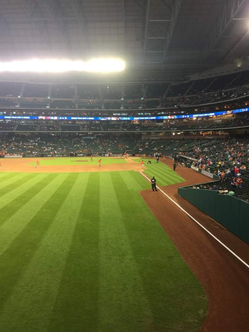 Seating view for Minute Maid Park Section 103 Row 1 Seat 13