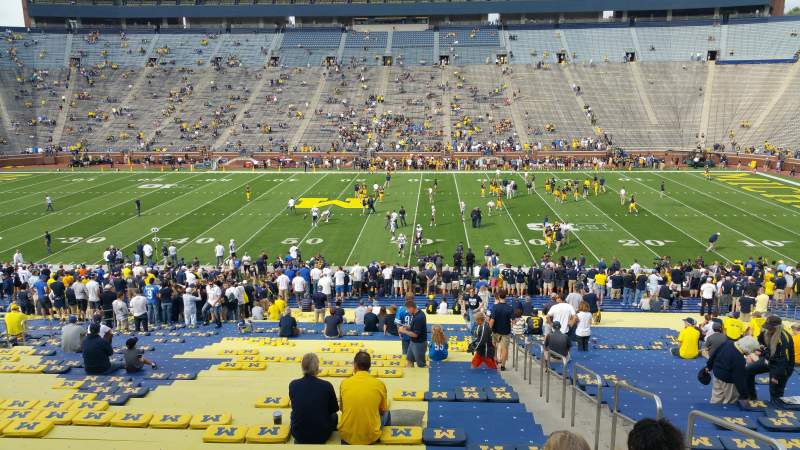 Seating view for Michigan Stadium Section 1 Row 44 Seat 8