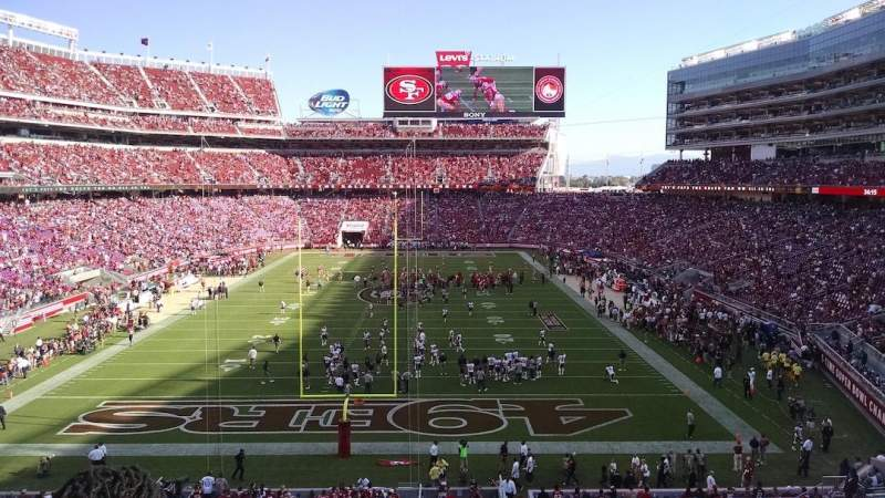 Seating view for Levi's Stadium Section 203 Row 2 Seat 4