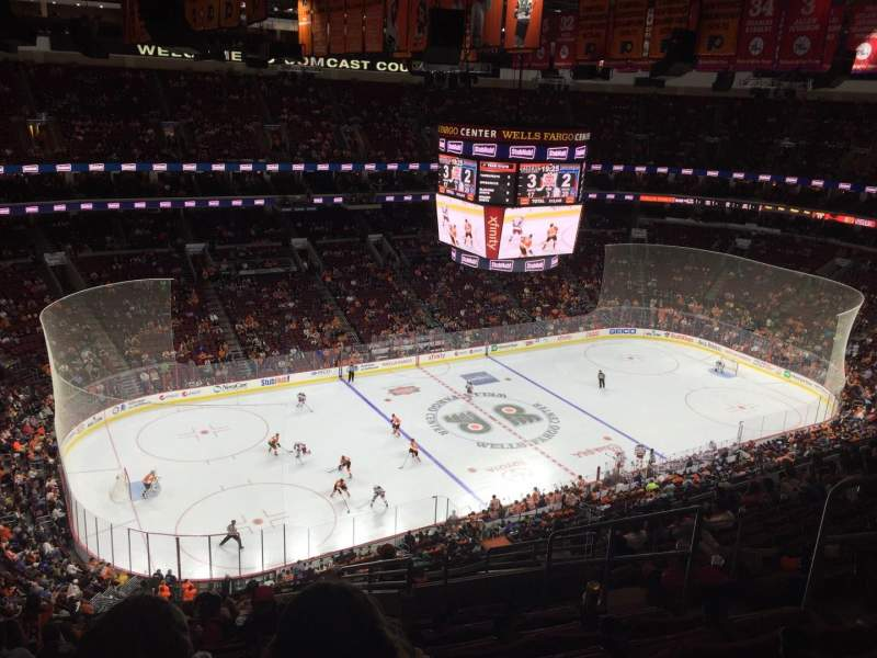Seating view for Wells Fargo Center Section 222 Row 14 Seat 5