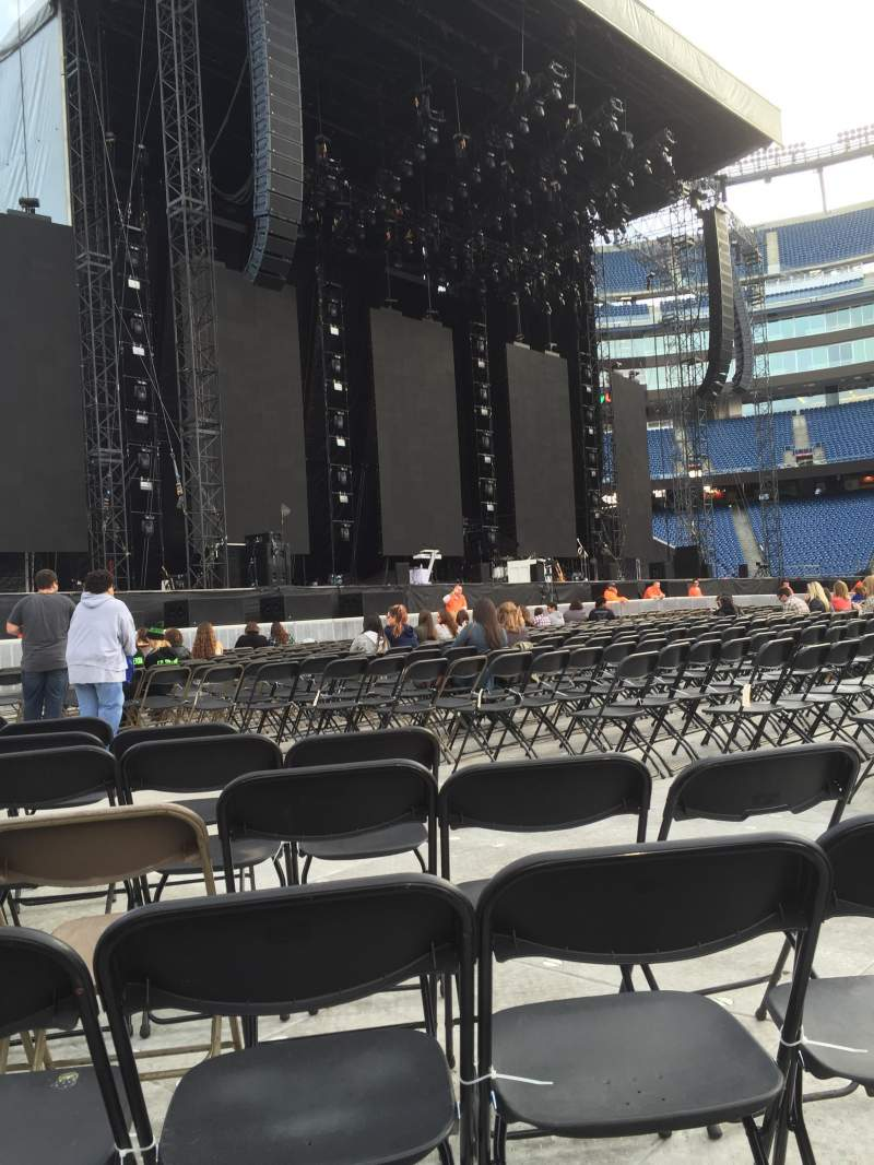 Seating view for Gillette Stadium Section A5 Row 14 Seat 8