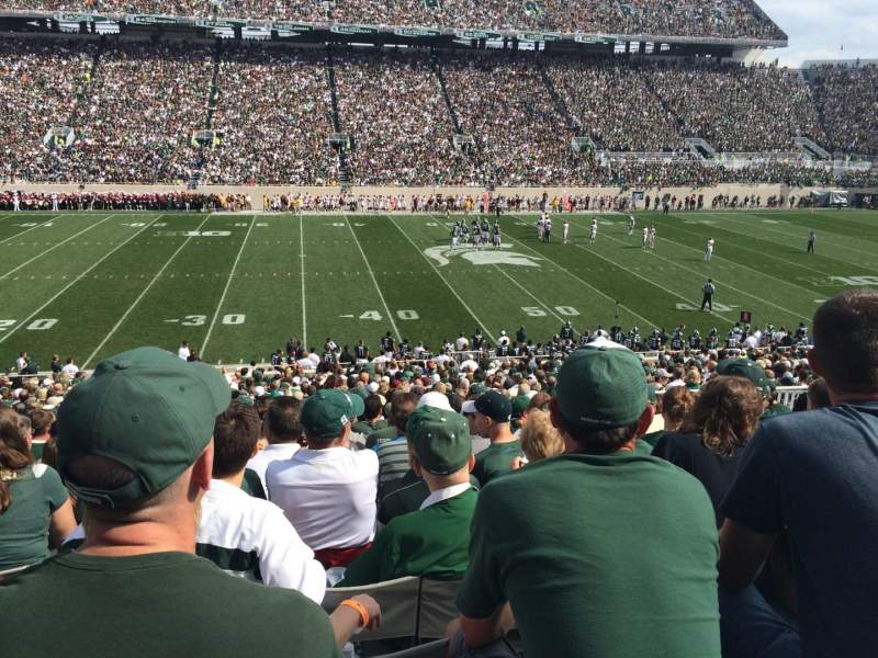 Seating view for Spartan Stadium Section 24 Row 38 Seat 29