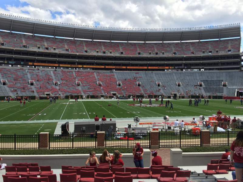 Seating view for Bryant-Denny Stadium Section J Row 16 Seat 6