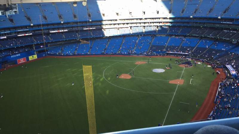 Seating view for Rogers Centre Section 539 Row 20 Seat 108