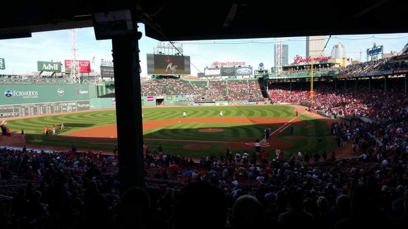 Seating view for Fenway Park Section Grandstand 23 Row 13 Seat 11