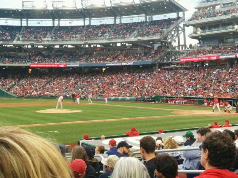 Seating view for Nationals Park Section 115 Row N Seat 7